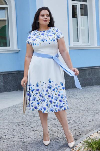 Платье 599-01 белое