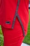 Красивий жіночий костюм 695-03 червоний