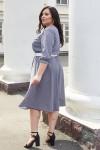 Красивое платье с поясом 696/1-01 узор