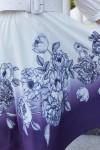 Красива сукня з поясом 697-01 фіолетова