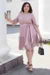 Красивое платье с кружевом 698-01 розовое