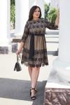 Красивое платье с кружевом 698-02 черное
