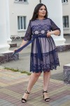 Красивое платье с кружевом 698-04 фиолетовое