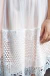 Красивое платье с кружевом 698-05 пудра