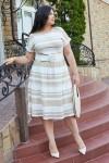 Платье 699-01 бежевое