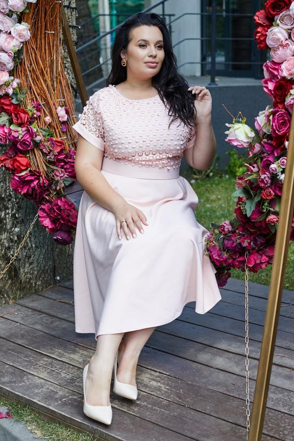 Платье 700-01 пудровое