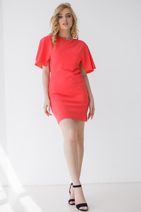 Платье 266-01 коралловое