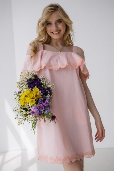 Платье 427-02 розовое