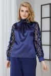 Блуза 579/1-01 синяя