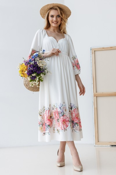 Сукня 803-01 біла