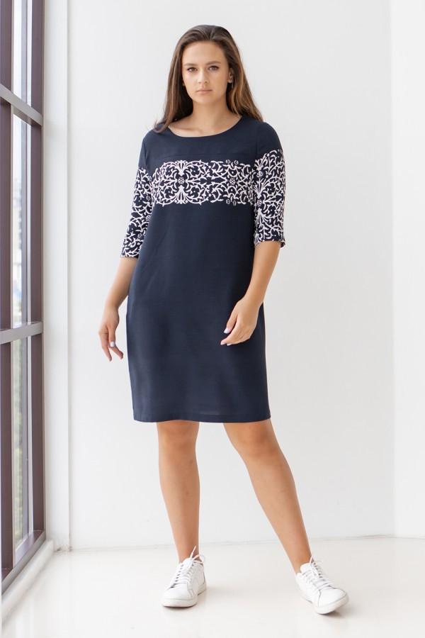 Сукня 0618-01 синя