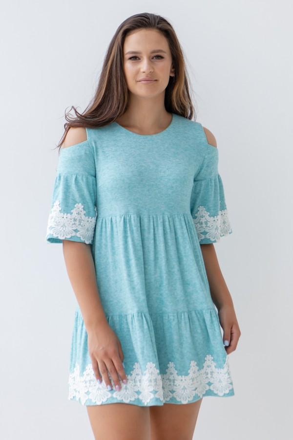 Сукня 356-01 бірюзова