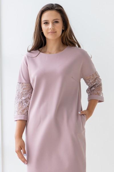 Сукня 607-01 пудра