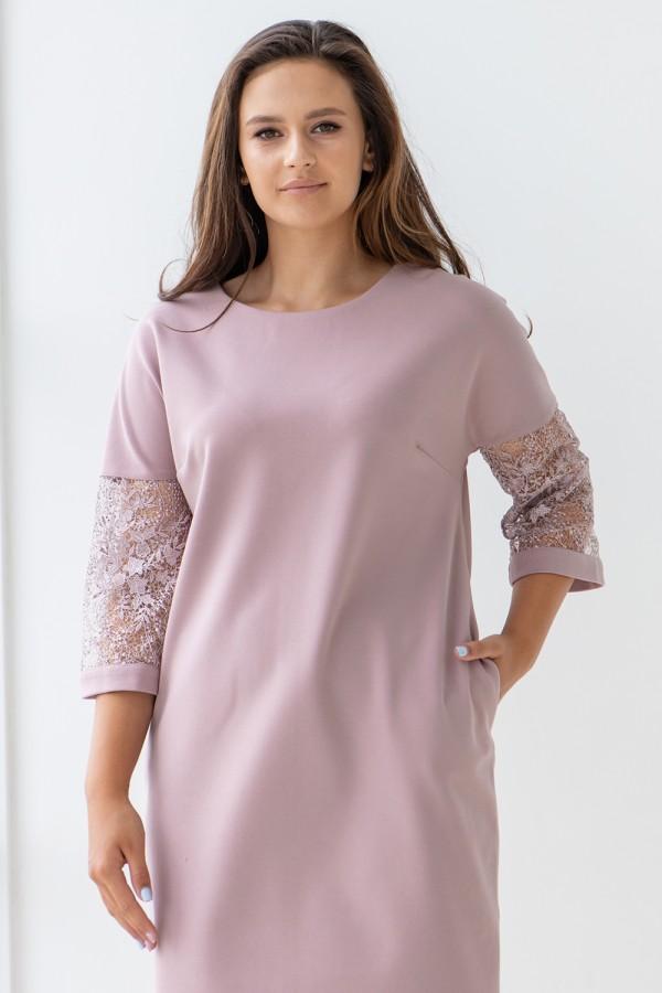 Платье 607-01 пудра