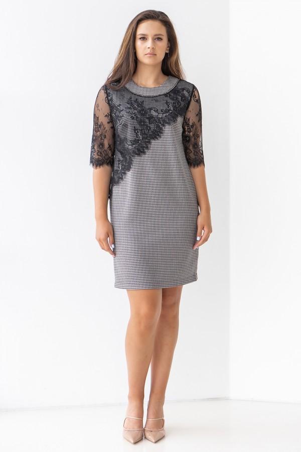 Платье 618-01 серое