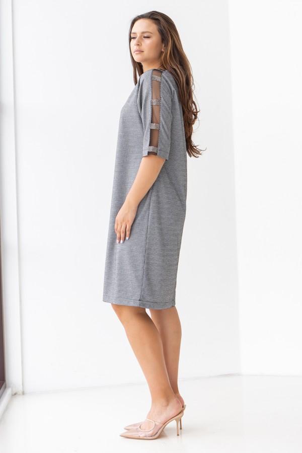 Елегантна сукня 702-02 сіра