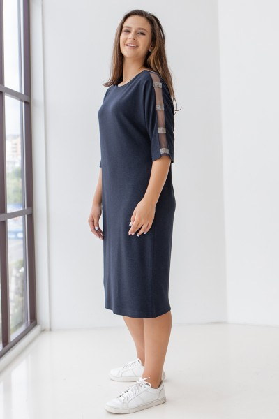 Елегантна сукня 702-03 синя