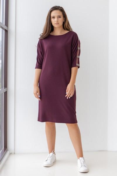 Елегантна сукня 702-04 фіолетова