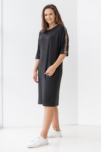 Елегантна сукня 702-05 чорна