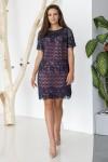 Платье 806-01 синее
