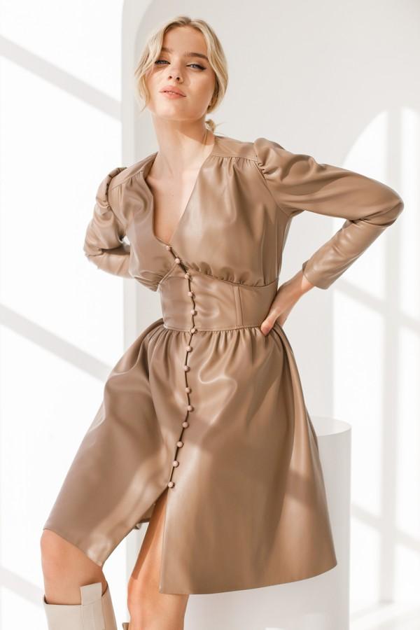 Сукня 829-01 коричнева