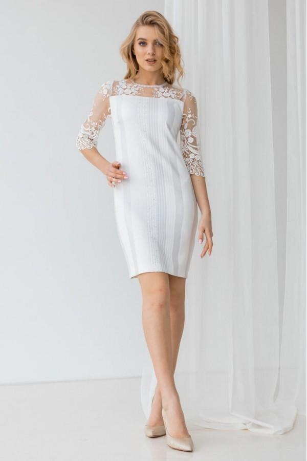 Плаття 1-01 біле