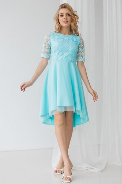 Платье 463-02 бирюза