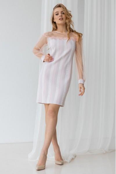 Плаття 1-01 пудра
