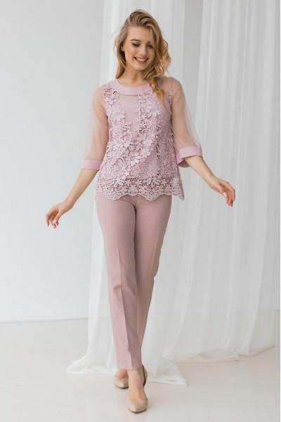 Костюм двійка 563-01 рожевий