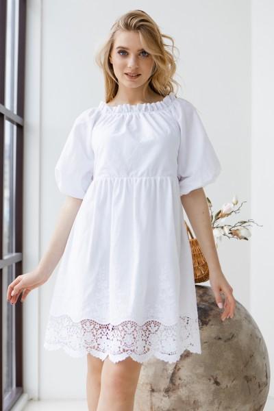 Платье 801-01 белое