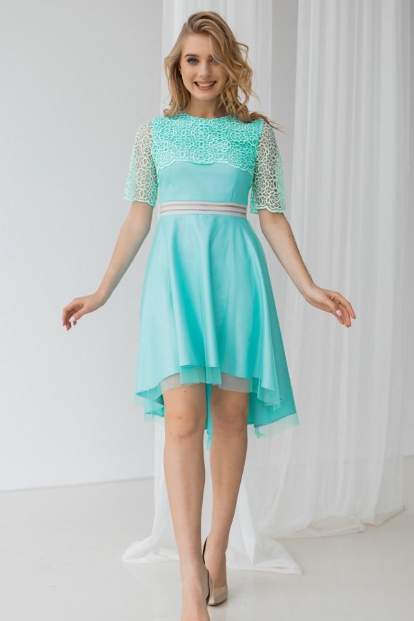 Платье 463-01 бирюза