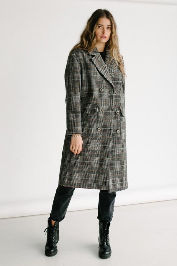 Пальто 147-01 клітинка