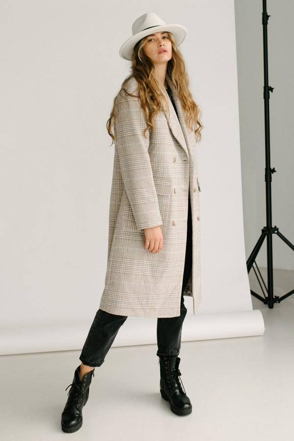 Пальто 147-02 клітинка