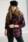 Теплая рубашка 155-01 красная