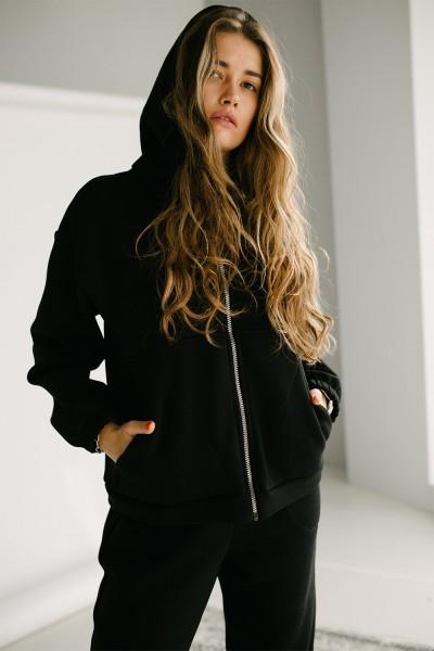 Красивий жіночий костюм 164-04 чорний