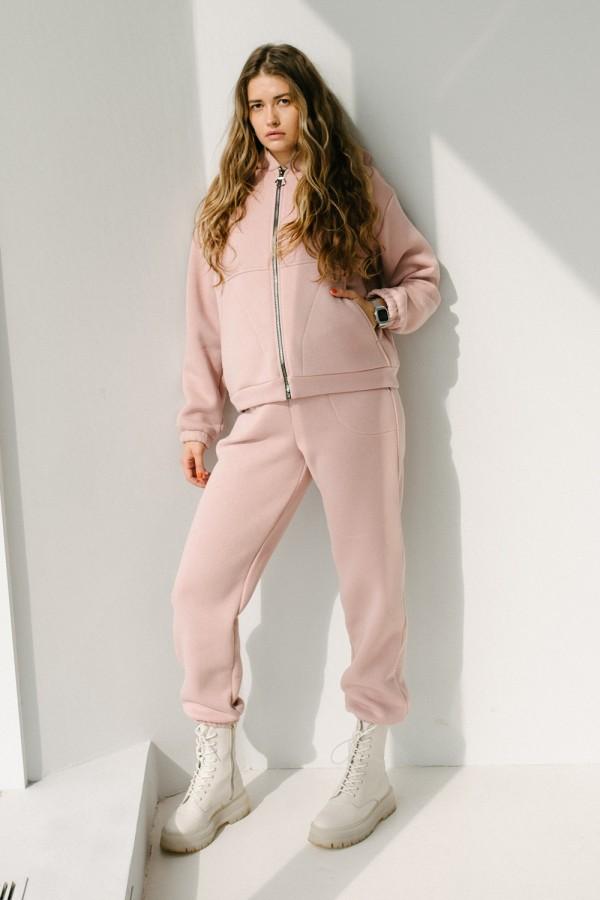 Красивий жіночий костюм 164-02 світлий фрез