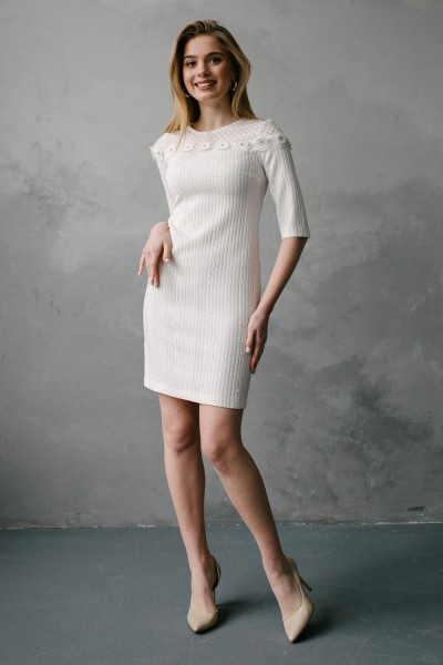 Плаття 575-01 біле