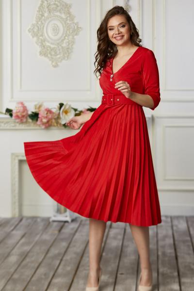Платье 667-02 красное