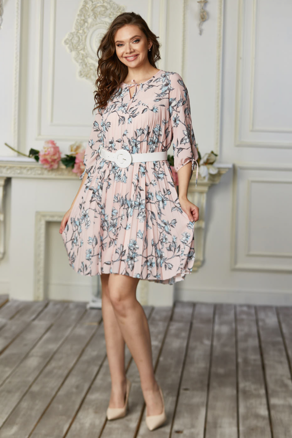 Платье 668-02 пудра