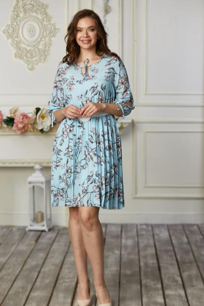 Платье 668-03 голубое