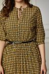 Платье 671-03 горчичный узор