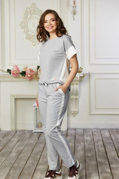 Спортивный костюм 682-04 светло серый