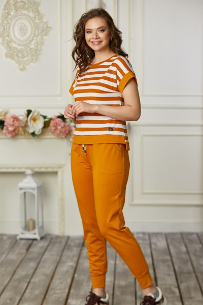 Спортивный костюм 684-02 оранжевый