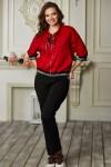 Спортивний костюм 686-02 червоний з чорним