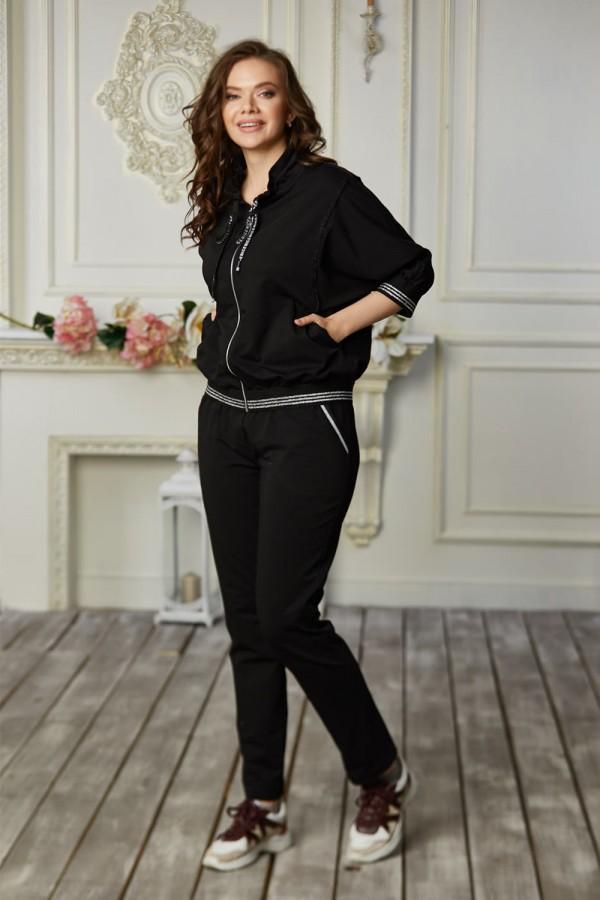 Спортивний костюм 686-03 чорний