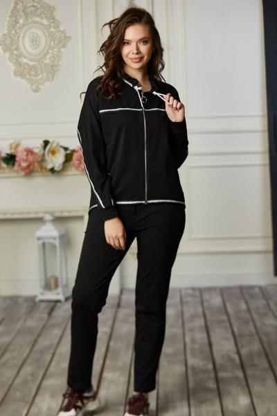 Спортивний костюм 87-02 чорний