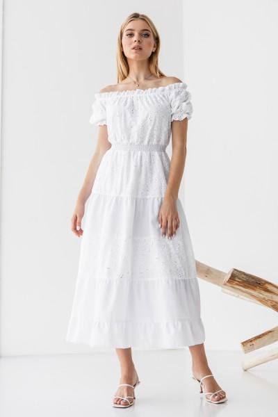 Платье 242/2-01 белое