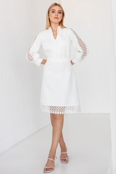 Платье 818-01 белое