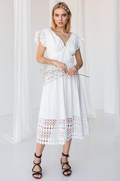 Платье 809-01 белое