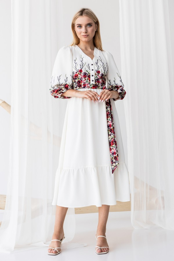 Сукня 810-01 біла